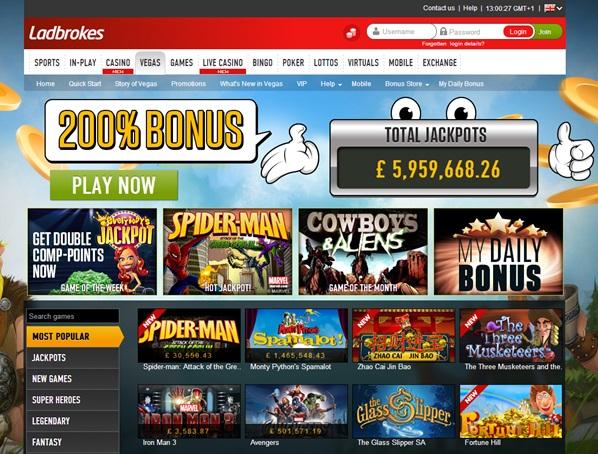 ladbrokes vegas casino