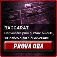 Baccarat: oltre che su di te, punti anche sul banco e sui tuoi avversari